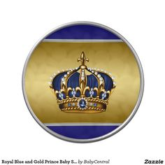 Royal Blue and Gold Prince Baby Shower Jelly Belly Candy Tins
