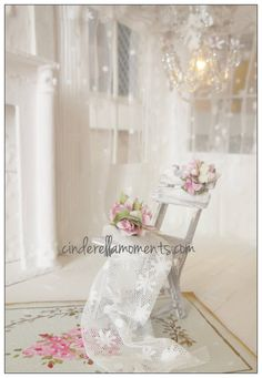 Dollhouse Miniature French Shabby Chic  by cinderellamoments, $75.00