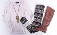 Deb Shops tribal leggings