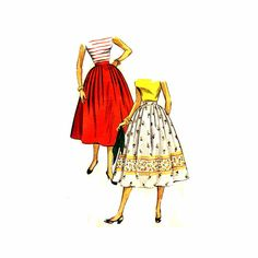 Vintage 1950s Womens Skirt Sewing Pattern by patternshop on Etsy