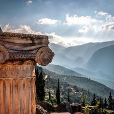 The Temple of Delphi, Greece. (Everywhere were the voices of songbirds, because Dephi is sanctuary. Somewhere in the morning distance sheep bells were ringing...)