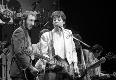 Paul McCartney and Pete Townshend, charity concert for Kampuchea at the Hammersmith Odeon, west London in December 1979