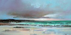 Scottish abstract landscape paintings. Love these colours!