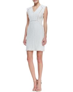 Rebecca Taylor, Fringe-Trim Tweed Dress