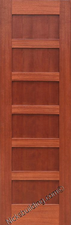 5 Panel Knotty Alder Flat Panel Mission Shaker Solid Core Interior Wood Doors Wood Doors