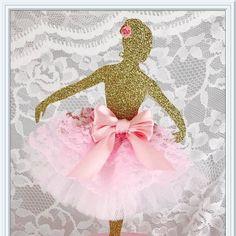 Ballerina Cake Topper - Ballerina Party Decorations - Ballerina Party Decor - Ballerina Birthday Party Cake Topper - Ballet Cake Topper