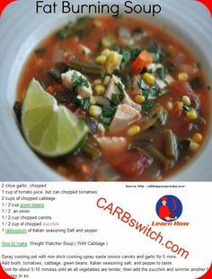 Diet soups recipe Fat Burning Soup