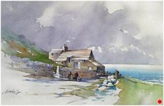 Irish Sketch by Thomas W. Schaller Watercolor ~ 18 inches x 24 inches