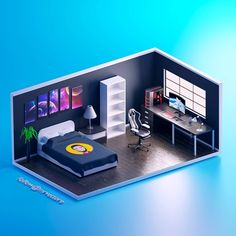Daylight variation of the gaming room. What do you think? 📈 Rate it 📨 DM us to get your room Gamer Bedroom, Bedroom Setup, Room Ideas Bedroom, Gaming Room Setup, Gaming Rooms, Computer Gaming Room, Small Game Rooms, Small Media Rooms, Video Game Rooms