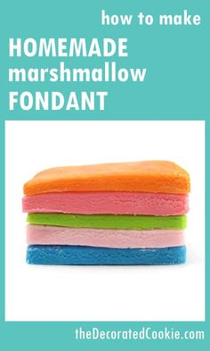 how to make simple homemade marshmallow fondant #HomemadeFondant #FondantRecipe #MarshmallowFondant
