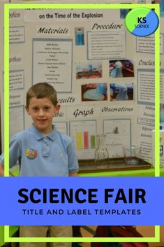 This template is designed to help students independently create titles for their science fair display board and other projects. They can use the labels as is or change the font, color, and board. The size of each text box is created to fit onto a X Kindergarten Science Activities, Science Resources, Science Classroom, Science Fair Display Board, Science Fair Experiments, Science Fair Projects Boards, Science Revision, Fourth Grade Science, Create Labels
