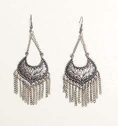 With Love From CA Burnished Chain Fringe Earrings