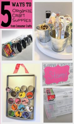 Organization: Five Ways to Organize Craft Supplies ~ * THE COUNTRY CHIC COTTAGE (DIY, Home Decor, Crafts, Farmhouse)