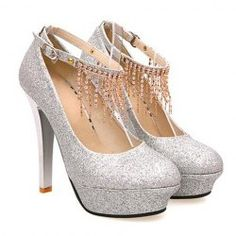 $22.81 Elegant Women's Pumps With Sequins and Chains Design