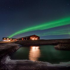 Find out where to witness the aurora borealis, with reindeer sleigh rides, ice hotels, and hot sp...