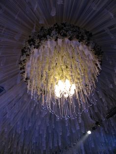 Jasmine as lighting decoration in Indonesian wedding.