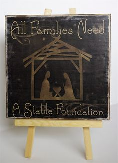 All Families Need a Stable Foundation - http://creativetryals.blogspot.com/2012/11/all-families-need-stable-foundation.html