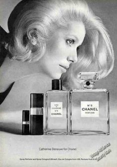 Catherine Deneuve for Chanel Perfume & Cologne (1972)