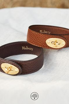 Shop the New Bayswater Bracelets on Mulberry.com. Inspired by the classic Mulberry style, the Bayswater Bracelet features the instantly recognisable Postman's lock to match its iconic namesake bag. Designed with Nappa lining, it features hypoallergenic components