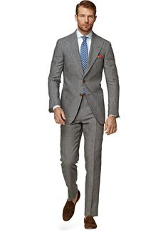 Suit Grey Stripe Washington Half-lined P3845 | Suitsupply Online Store