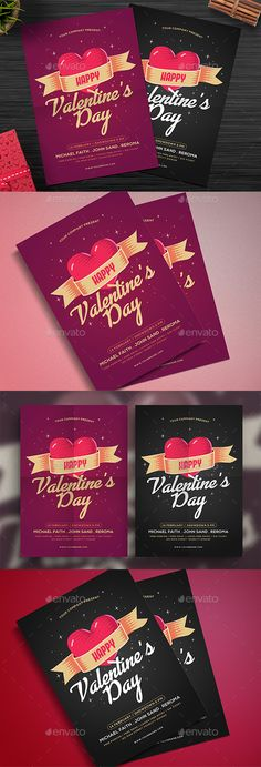 Valentine\u0027s Party Dinner Flyer Template PSD, Vector AI #design