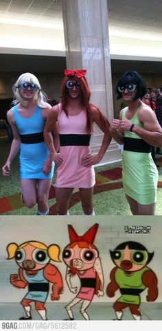 The Powerpuff Girls...possibly the best thing ever. I used to watch the Powerpuff Girls when I was younger!