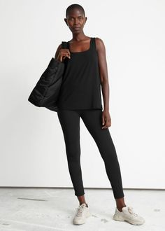 #andotherstories #yoga #active #sport #outfit #inspiration #yoga Loungewear Outfits, Trouser Outfits, Camo Designs, Normcore, Sporty, Slim Fit Trousers, Fashion Story, S Models, Lounge Wear
