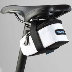 휴대용 자전거 자전거 가방 큰 볼륨 야외 좌석 안장 가방 백 프레임 튜브 가방 파우치 지퍼
