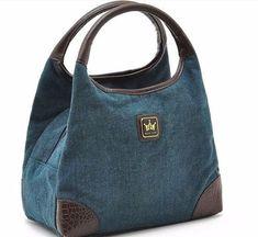 Denim Handbags, Tote Handbags, Purses And Handbags, Tote Bags, Patchwork Bags, Quilted Bag, Bag Quilt, Diy Sac, Jean Purses