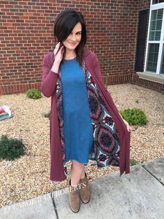 Such a fun outfit! LuLaRoe Carly, Joy, and Sarah! Booties!!