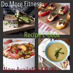 My first recipe book is done! Woohoo!!! If your looking for the healthiest yummiest breakfasts, lunches, dinners, snacks, smoothies, desserts, appetizers, and meal planning, then you found em! It also includes nutritional info on good carbs vs bad carbs, which to eat and stay away from, what fruits and veggies are best for your health and loosing weight, how to get the protein and fiber you need in your diet and so much more! E-Book is now available! $9.99 trish@domorefitness.tk