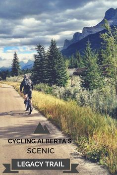 The scenic Legacy Trail in Alberta, Canada connects Banff and Canmore- the perfect way for cyclists to see the mountains!