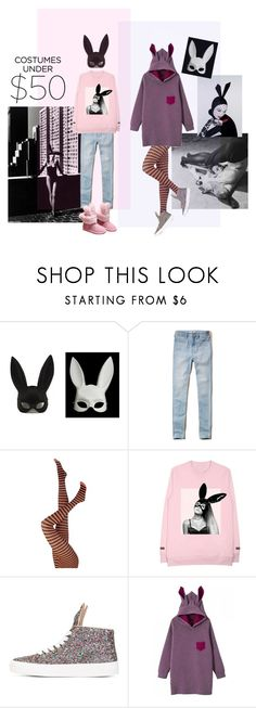 """""""Bunny sis 🐰"""" by ladyarchitect ❤ liked on Polyvore featuring Bebe, Masquerade, Hollister Co., Serge Lutens, Bunny, Rabbit, halloweencostume and ladyarchitect"""