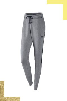 These skinny-fit sweatpants are a total score for winter — the lightweight tech-fleece material promises warmth without any of the bulk. Wear them with a chunky fisherman's sweater for equal parts style and comfort. #refinery29 http://www.refinery29.com/working-out-over-the-holidays#slide-3