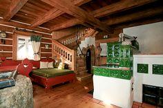 poloroubenka stavba - Hledat Googlem Stove Fireplace, Witch House, Country, Architecture, Tiny Houses, Garden, Facebook, Ideas, Arquitetura