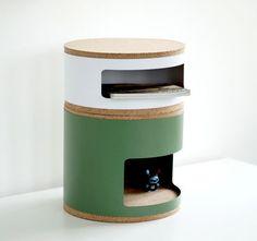 Rangement Kork S / Empilable - Ø 35 x H 15 cm Jaune - Linadura
