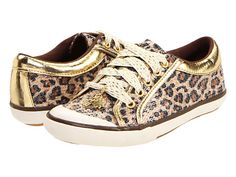 Jessica Simpson Kids Cassie (Youth) Leopard/Gold