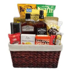 The Deluxe Jack Daniel's Gift Basket is available for same day delivery in Las Vegas, NV. Featuring Gentleman Jack, Jack Daniels and variety of gourmet salty & sweet snacks. Create your own Custom Whiskey Gift Basket by calling 702-214-1221. Theme Baskets, Themed Gift Baskets, Birthday Gift Baskets, Cigar Gifts, Whiskey Gifts, Beer Gifts, Liquor Gift Baskets, Jack Daniels Gifts, Bachelor Gifts