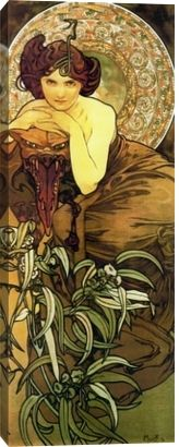 The official site of the Mucha Foundation. A comprehensive resource for information on Alphonse Mucha (or Alfons Mucha) with details on his life, the Mucha Trust Collection, news, exhibitions, events and publications. Art And Illustration, Art Nouveau Mucha, Alphonse Mucha Art, Mucha Artist, Art Nouveau Poster, Vintage Posters, Vintage Art, Art Posters, Illustrator