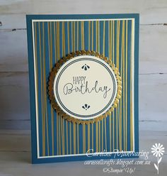 Stampin' Up! Eastern Palace Masculine card.