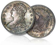 1839 half dollar