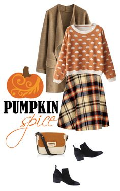 """pumpkin spice and everything nice"" by collagette ❤ liked on Polyvore featuring Chicwish, Accessorize and pss"