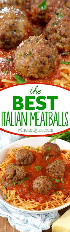 the BEST Italian Meatballs! My Italian grandmother's recipe, the word perfect doesn't even begin to cover it.These are the BEST Italian Meatballs! My Italian grandmother's recipe, the word perfect doesn't even begin to cover it. Beef Dishes, Pasta Dishes, Food Dishes, Meatball Recipes, Meat Recipes, Cooking Recipes, Pasta Recipes, Dinner Recipes, Recipies