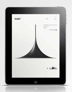 GUBI by Jacob Ravn, via Behance