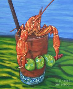 The Cajun Cocktail, the new refreshing and delicious southern libation. Colorful and fun new take on a bloody mary, with Claude the crawfish. Louisiana Art, Louisiana Homes, New Orleans Louisiana, New Orleans Art, New Orleans Mardi Gras, Rajun Cajun, Cajun Food, Cajun Decor, Crawfish Season