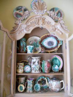 antique Majolica pieces