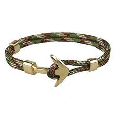Gold Anchor Traveller's Bracelet