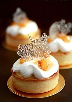 # fancy Desserts Pierre Herme's Meyer Lemon Tart - (Free Recipe below) Fancy Desserts, Just Desserts, Delicious Desserts, Dessert Recipes, Yummy Food, Gourmet Desserts, Custard Desserts, Pastry Recipes, Beautiful Desserts