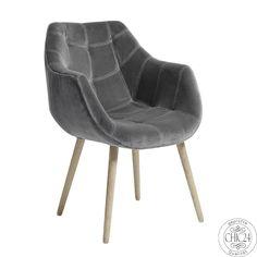 Sessel von Nordal grau Samt-velour - chic24 - Vintage Möbel und Industriedesign…