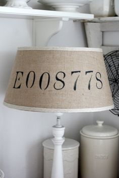 Image result for burlap number lampshades